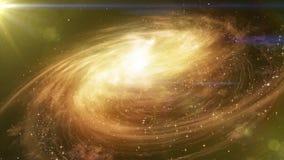 Utrymmelopp nära stor galax vektor illustrationer