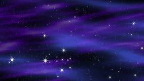Utrymmemoln blåa Violet Loop stock illustrationer