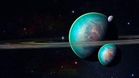 Utrymmeplanet Royaltyfri Foto