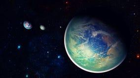 Utrymmeplanet Arkivbilder