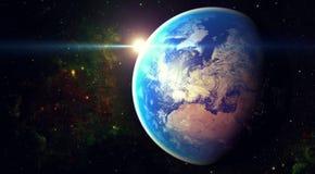 Utrymmeplanetjord Fotografering för Bildbyråer