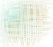 Utrymmesfär ljus vektorvärld för konst royaltyfri illustrationer