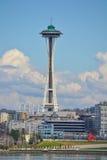 Utrymmevisare från WSDOT-färjan, Seattle, Washington Fotografering för Bildbyråer