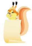 utrzymań papieru wiewiórka Zdjęcia Royalty Free