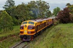 Utrzymanego Australijskiego streamliner dieslowska lokomotywa Fotografia Royalty Free