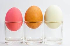 Utrzymani kaczek jajka, solony jajko i jajko na białym tle, Fotografia Royalty Free