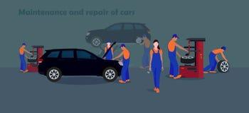 Utrzymania i naprawy samochody Zdjęcie Stock