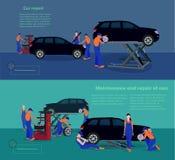Utrzymania i naprawy samochody Obraz Stock