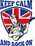 Utrzymania Spokoju Skała Na Brytyjski Chorągwianej Królowej Babci Gitarze Obraz Stock