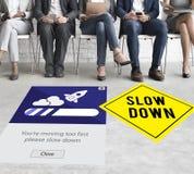 Utrzymanie spokój Zmniejsza prędkość Relaksuje Wolnego puszka pojęcie Obraz Royalty Free