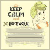 Utrzymanie spokój i robi twój pracie domowej Obraz Royalty Free