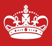 Utrzymanie spokojna plakatowa jednakowa korona royalty ilustracja