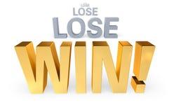 Utrzymanie wygrana I Próbować! Zdjęcie Royalty Free