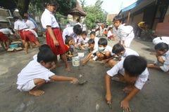 Utrzymywać aktywności higieny Środowiskowej szkoły Obraz Stock
