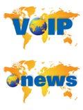 utsändnin den breda världen för logonyheternavoip royaltyfri illustrationer