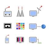 utsändningssymboler fotografering för bildbyråer