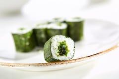 Utsökt asiatisk meny i restaurangen Royaltyfria Foton