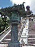 Utsökt kulturföremål på Tian Tan Big Buddha, Hong Kong Arkivbilder