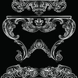 Utsökta Rich Rococo Table Arkivfoton