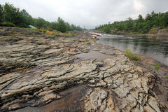 Utsatt vagga flodlandskapet Royaltyfria Foton