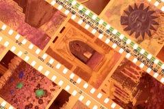 Utsatta remsor för negativ film för färg royaltyfria bilder