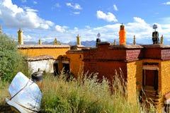 Utse Hermitage above Sera Monastery, Lhasa, Tibet Royalty Free Stock Images