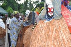 UTSEENDE AV AFRIKANSKA MASKERINGAR Royaltyfri Bild
