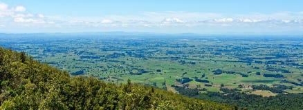 Utsikt av den Waikato regionen från Mt Pirongia Royaltyfria Foton