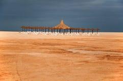 utsikt för strandboaferie Arkivbilder