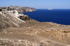 Utsikt i Megalochori. Royaltyfri Bild