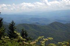 Utsikten av rökiga berg grenslar Royaltyfri Foto