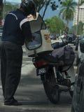 Utskick Rider From GDExpress royaltyfria bilder
