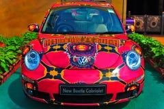 utskjutande cabriolet nya volkswagen Royaltyfri Foto