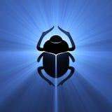 utskjutande egyptiskt symbol för signalljuslampascarab royaltyfri illustrationer