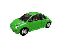 utskjutande sikt för bilframdelgreen stock illustrationer