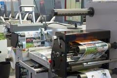 Utskrift av maskinen fotografering för bildbyråer