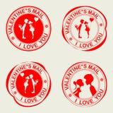 Utskrift upp till av dag för valentin s royaltyfri illustrationer