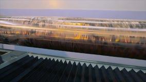 Utskrivaven axel Cylindrisk press för tapetutskrift Mekanismen av utskrift på tapeten modern pressprinting lager videofilmer
