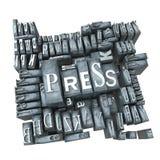utskrivaven press Arkivbild