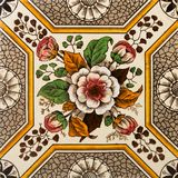 utskrivaven tegelplattavägg Royaltyfri Foto