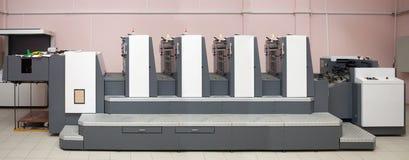 utskrivavet avsnitt för fyra maskin förskjutning fotografering för bildbyråer