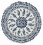 utskrivavet qalamkar traditionellt för calico hemslöjd Arkivbild