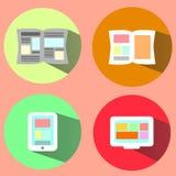 Utskrivavna och Digital massmedia Arkivfoton