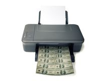 utskrivavna pengar Arkivfoto