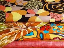 utskrivavna textilar Arkivbilder