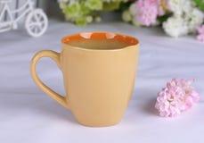 utsökt keramisk kopp Fotografering för Bildbyråer