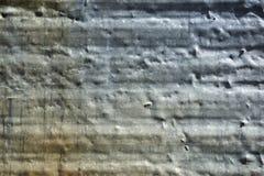 Utslagen korrugerad stålsiding Arkivbild