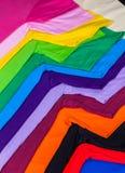 utslagsplatsskjortor som göras från bomull och fiber Royaltyfria Foton
