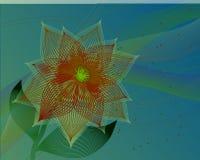 Utsmyckad abstrakt blomma Arkivfoto