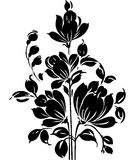 Utsmyckad beståndsdel för blom- design Arkivfoto